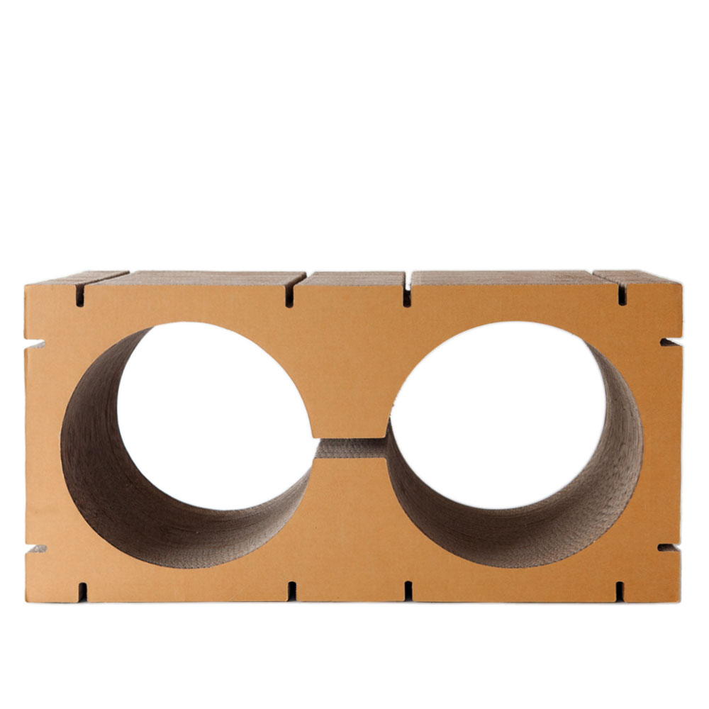 HOME Double-Circle Shape L - Brown