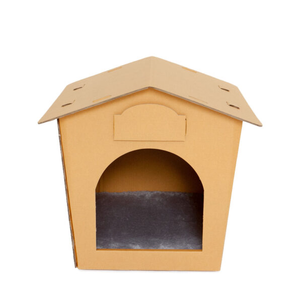 Eco Pet House with Grey Bed Pad