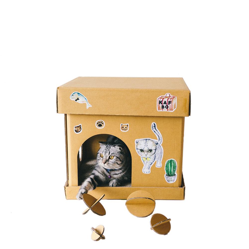 Cube The Silver Cat Sticker (Mr. Silverfish KAFBO)