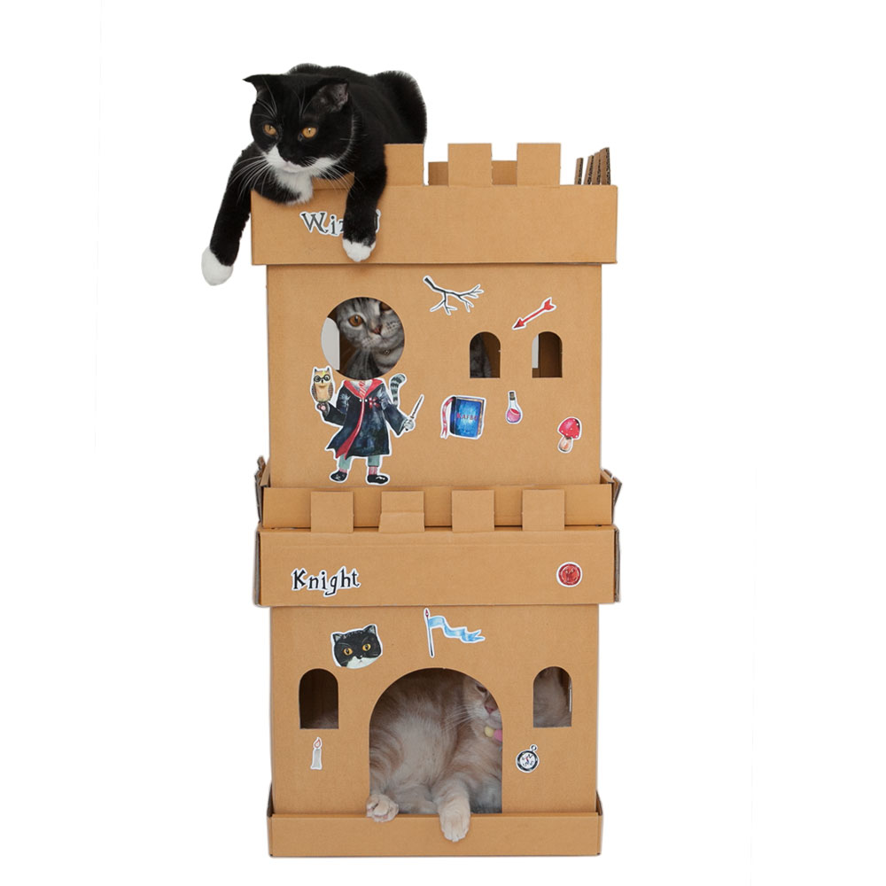 Castle Cube The Knight Sticker (The Tuxedo Cat)