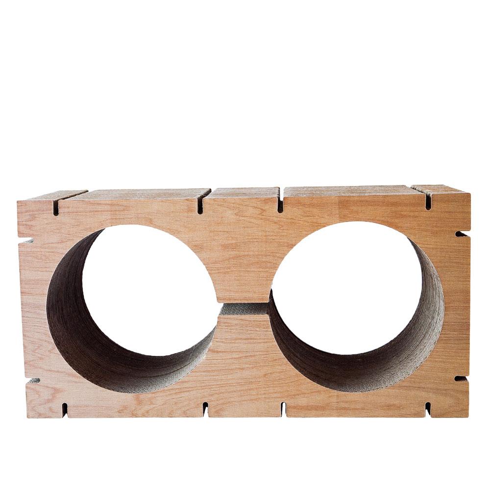 HOME Double-Circle Shape L - Walnut